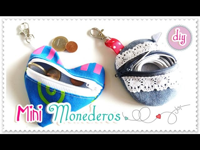 Monederos de tela DIY | Para Llaveros |