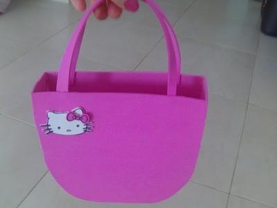 Nuevo bolso Hello Kitty con goma eva