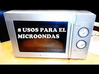 OCHO USOS PARA EL MICROONDAS QUE TAL VEZ NO CONOCÍAS. EIGHT USES FOR MICROWAVE YOU MIGHT NOT  KNOW