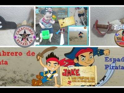 Sombrero de pirata y Espada de Jake El Pirata. Gorro de pirata Muy fácil DIY