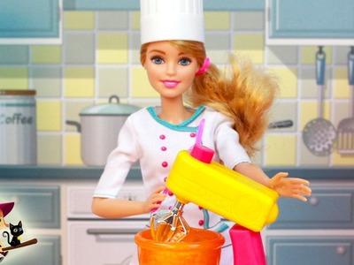 Barbie Prepara un Delicioso Pastel y Galletas