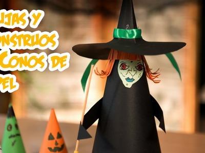 Brujas y Monstruos de Conos de Papel Halloween Facilisimo y Barato