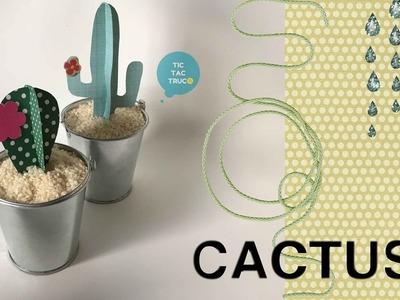 Cactus de cartulina para decoración