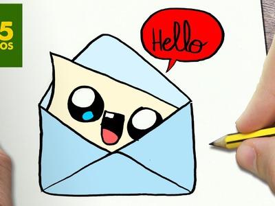 COMO DIBUJAR CARTA KAWAII PASO A PASO - Dibujos kawaii faciles - How to draw a mail