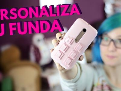 Como hacer fundas para celulares originales y fáciles. ¡CHOCOLATE DE FRESA!