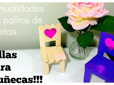 CÓMO HACER SILLAS PARA MUÑECAS! (HOW TO MAKE A DOLL CHAIR!)