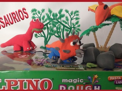 Dinosaurios 2ª parte. Con masa de modelar Alpino, parecida a Play Doh