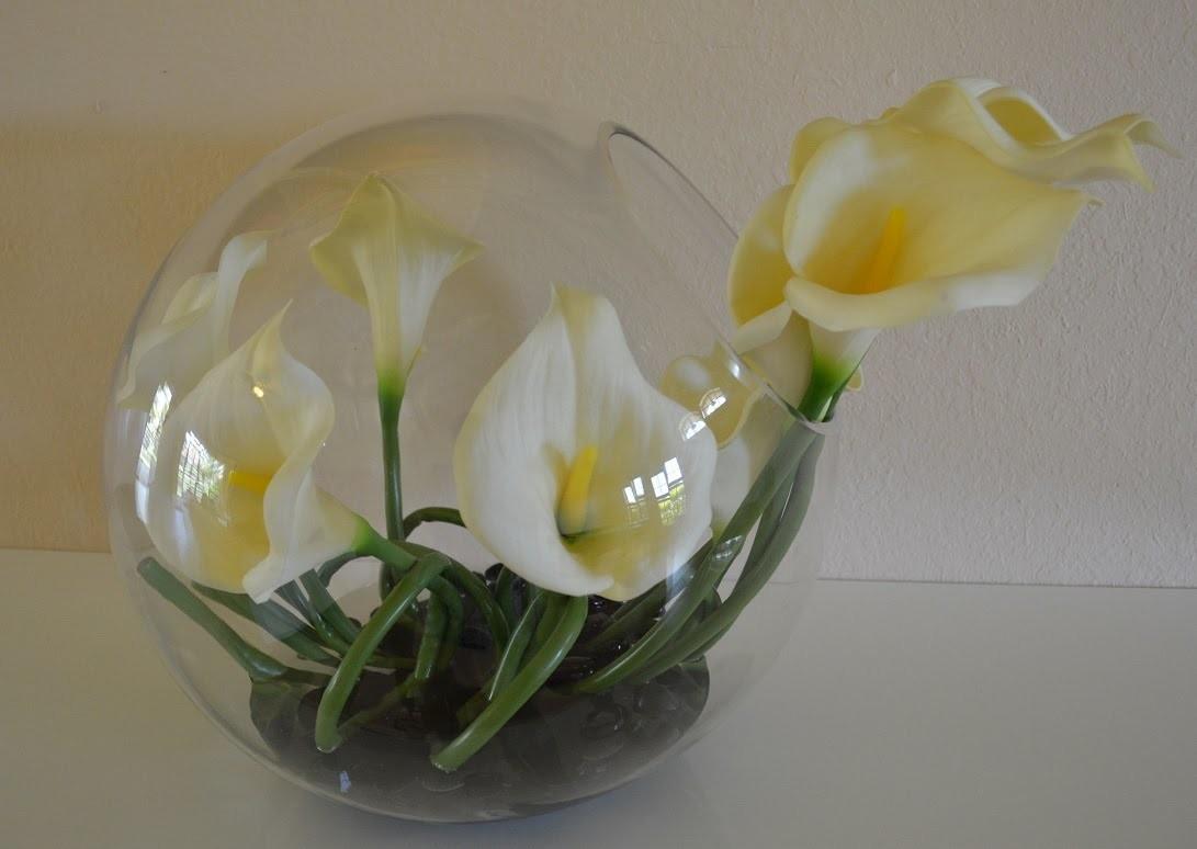 Diy centro de mesa moderno con flores for Centros de mesa modernos para casa