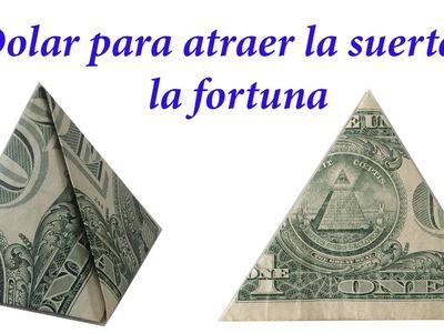 Dólar para la buena suerte. COMO DOBLAR UN DOLAR PARA LA SUERTE