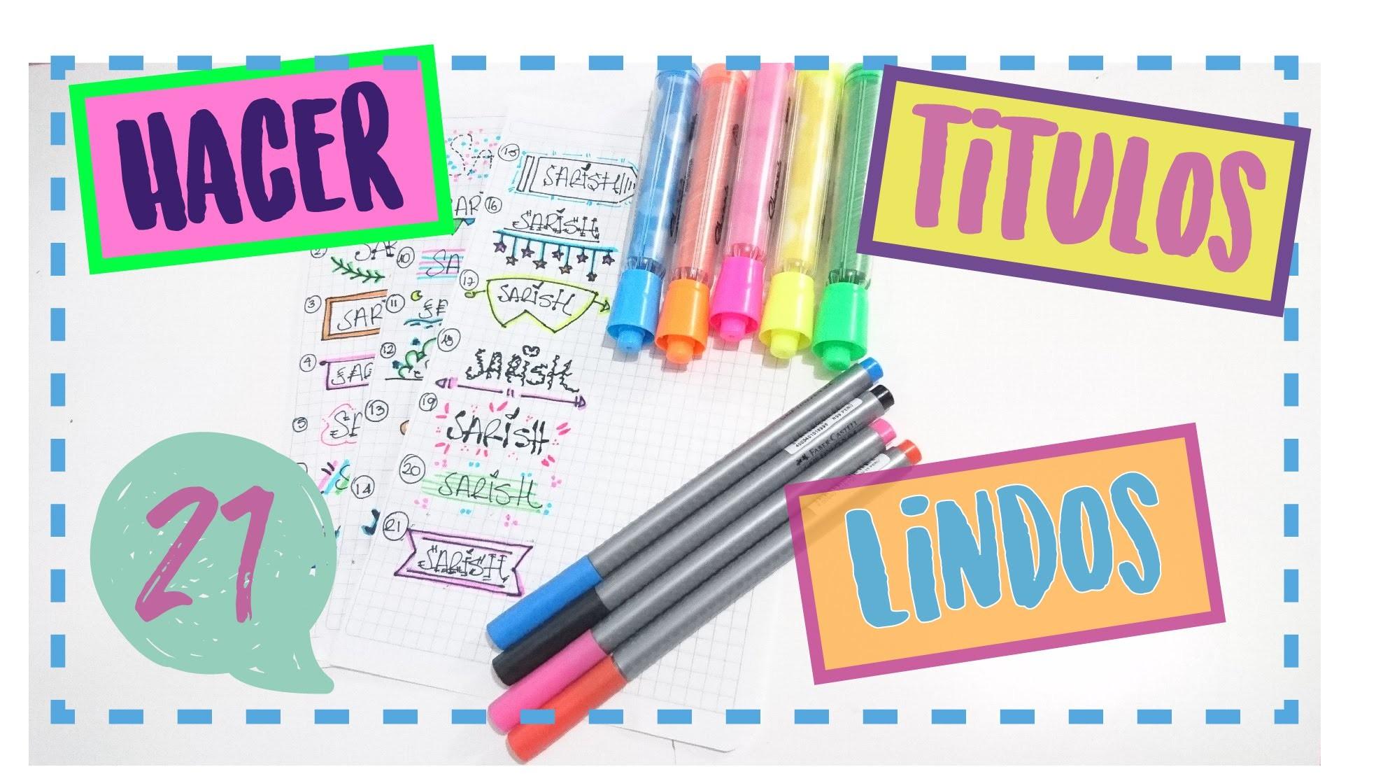 Ideas para hacer titulos bonitos my crafts and diy projects - Paginas web de decoracion ...