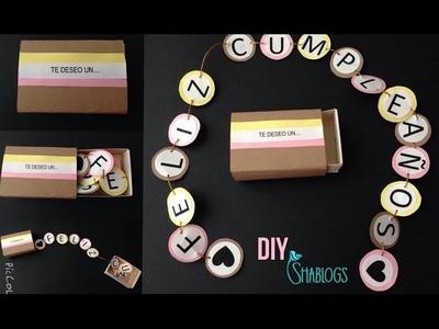 Mini cartel de Feliz Cumpleaños l DIY