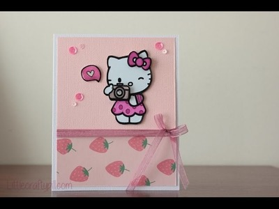 Tarjeta Hello Kitty. Hello Kitty card