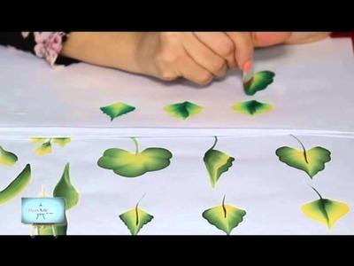 Carolina   Pinceladas hojas
