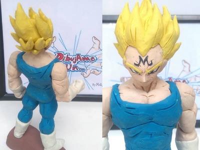 Como hacer a Majin Vegeta plastilina RETO DibujAme Un VS Idea tu anime