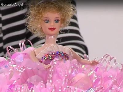 Como hacer una Muñeca con Falda de Flores -Bombonera- Hogar Tv  por Juan Gonzalo Angel