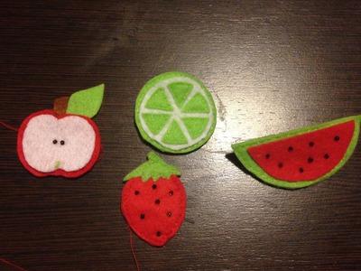 ¿Cómo se hace Frutas de Fieltro ?