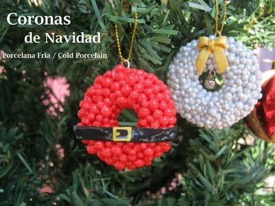 Coronas de Navidad - Porcelana Fria. Cold Porcelain