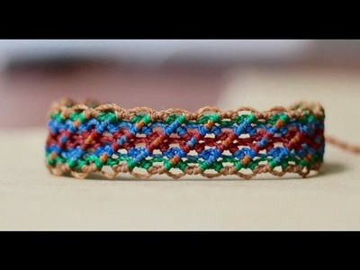 Tutorial pulseras de hilo faciles  | friendship bracelet tutorial