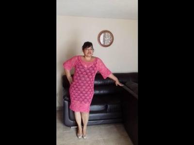 Vestido de abanico reduciendo la falda