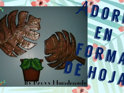 Adorno en forma de hoja. Diy wall decorations