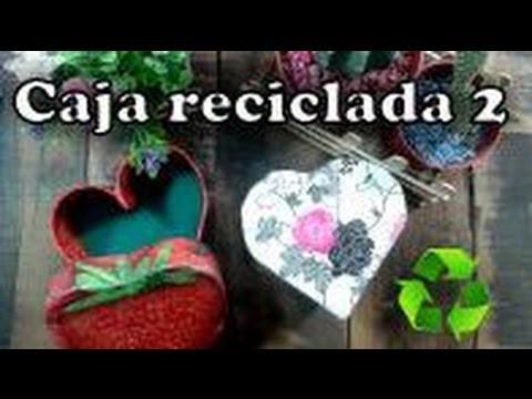 DIY:Caja corazon con rollitos de carton-DelCarmenArtesanal-