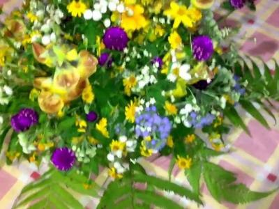 DIY centro de mesa Flores silvestres centerpiece wildflowers