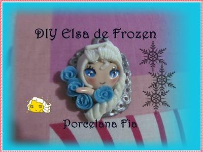 DIY  Elsa de frozen  Porcelana fria