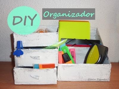 DIY Organizador con cajas de cartón (ideas de reciclaje) | Gloria Pescador