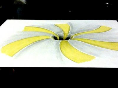 Aprende a Dibujar un Agujero.Hoyo 3D | Ilusión óptica anamórfica | ArteMaster