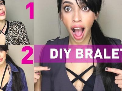 Así se hace un bralette en casa. Tutorial fácil sin coser. Decora tu sostén  - Easy DIY Bralette!