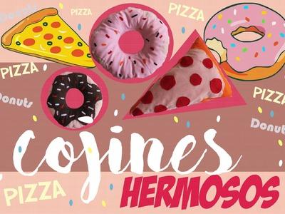 COJINES EN FORMA DE COMIDA! Donuts + Pizza!