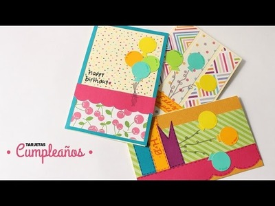 Como Hacer Cartas. Tarjetas de Cumpleaños!!! | Fáciles y Bonitas