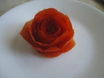 Como hacer rosas de Jitomate