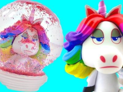 Como Hacer una Esfera de Nieve de el Unicornio Arcoiris Divertidas Manualidades DIY en DCTC