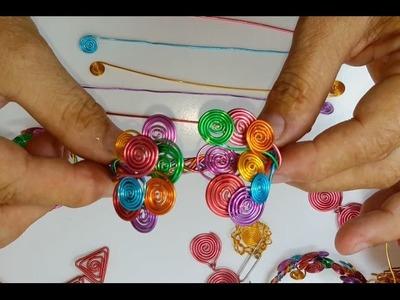 Como hacer una Pulsera de alambre de colores trenzada