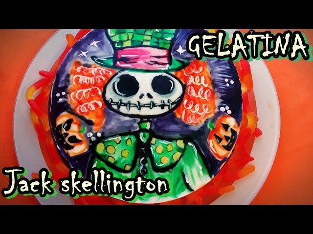 Gelatina de Halloween Jack Skellington.Como hacer transfer en gelatina