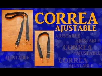 Cómo armar una CORREA AJUSTABLE súper simple! TUTORIAL Inerya viris