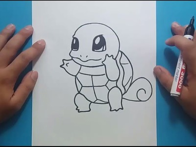 Como dibujar a Squirtle paso a paso - Pokemon | How to draw Squirtle - Pokemon