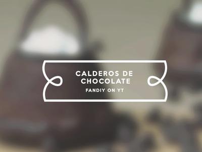¿Cómo hacer Calderos de Chocolate?   Harry Potter   FanDIY.