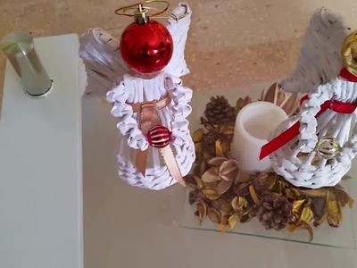 Como hacer un angelito hermoso de canutillos de papel