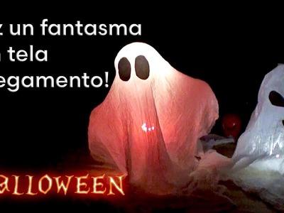 Como hacer un Fantasma para Halloween con Tela y pegamento