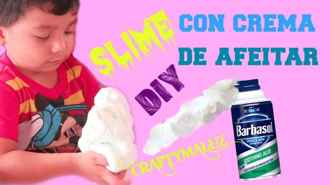 ♥DIY: SLIME CON CREMA DE AFEITAR Y JABÓN