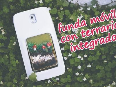 FUNDA MOVIL ORIGINAL con micro jardin - manualidades con goma eva foami
