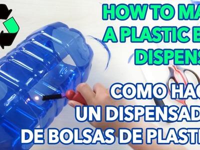 How to make a plastic bag dispenser - Como hacer un dispensador de bolsas de plastico - PinCactuss