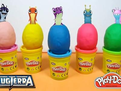 ✨¡Huevos Play doh con Sorpresas de Slugterra. Bajoterra !.Eggs Play Doh with Slugterra Surprises!✨