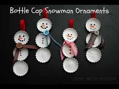 Manualidades: Muñeco de Nieve con Corcholatas Adorno Navideño