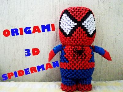 Origami 3D Spiderman Parte 1 (Hombre Araña)