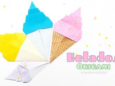 Origami: Cono de Helado - Brotes de Creatividad