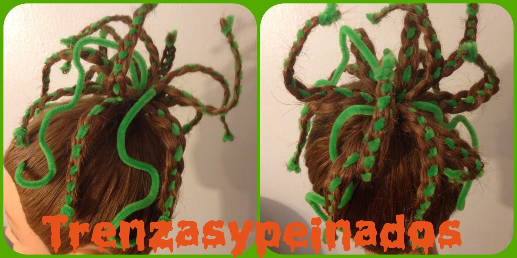 Peinado para Halloween Medusa. Halloween Hairstyle Medusa