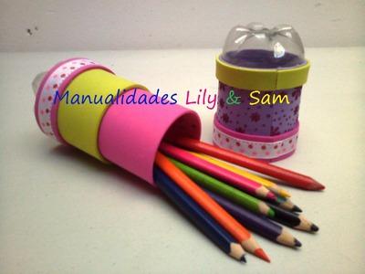 Porta-lápices Reciclado en Foami y Botellas plásticas, Paso a Paso